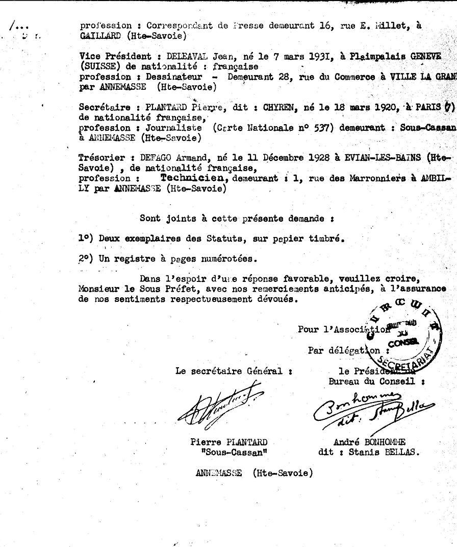 The statutes of the priory of sion 1956